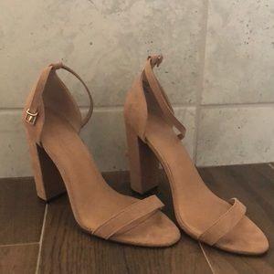ASOS nude block heels